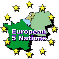 European 5 Nations toernooi logo